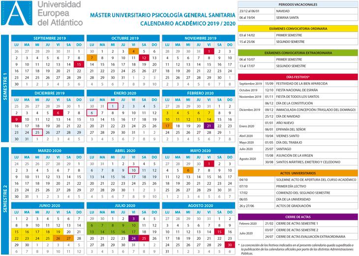 Calendario Universitario.Calendario Academico Y Horarios