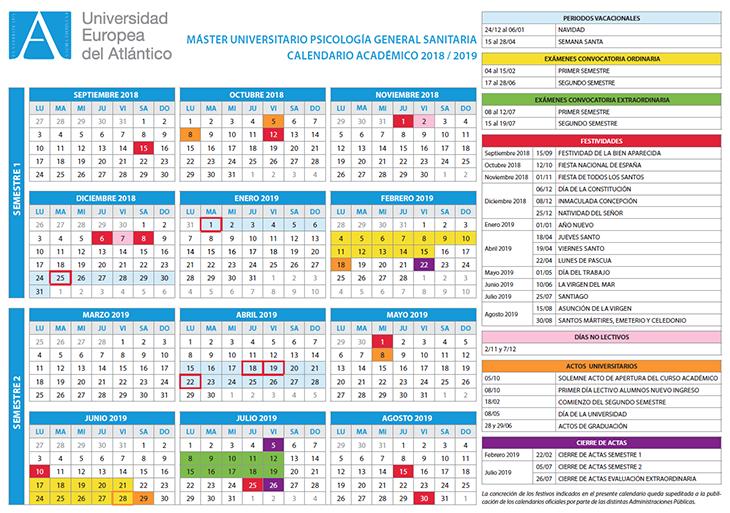 Calendario Laboral Santander 2020.Calendario Academico Y Horarios