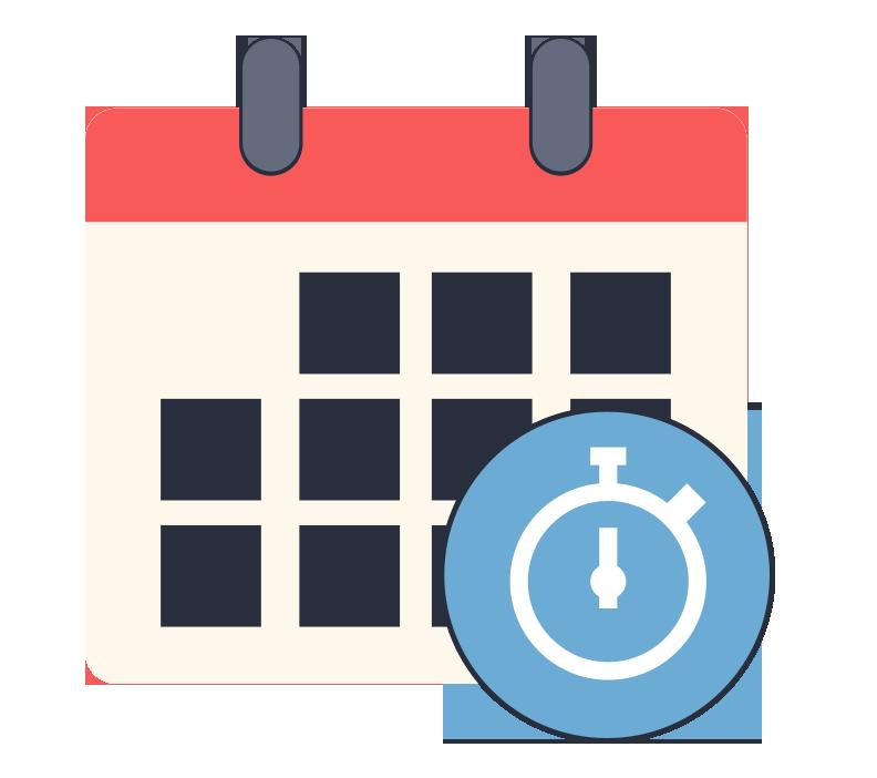 Resultat d'imatges de calendario y horario